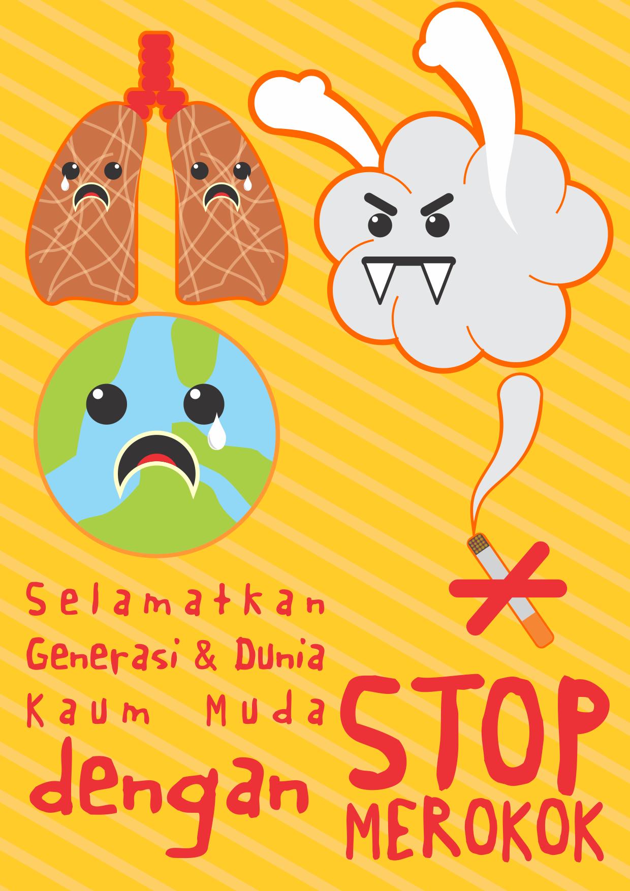 Bahaya Merokok Gambar Animasi Dapatkan Inspirasi Untuk Poster Bahaya Merokok Kartun Koleksi Poster
